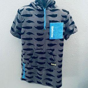 Mystic Boarding Co. Terry Cloth Sweatshirt Poncho